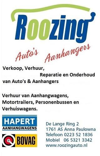 Roozing auto's en aanhangers